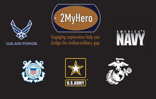 2MyHero military greeting cards logo and branch logos for wordpress
