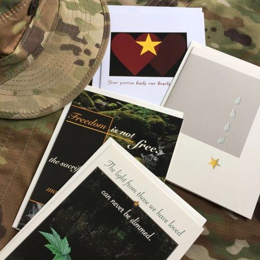 2MyHero military sympathy greeting cards mixed pack