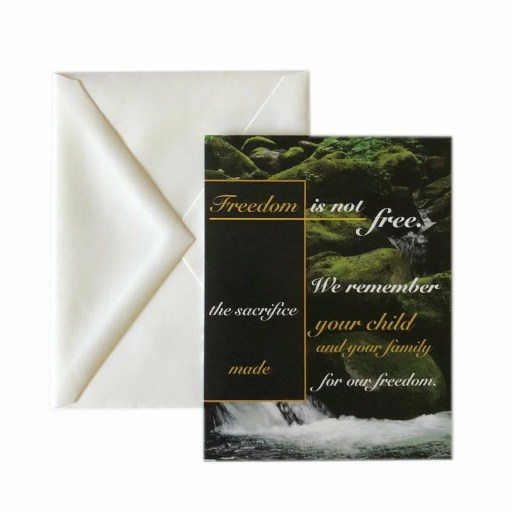2MyHero military sympathy greeting card freedom waterfall