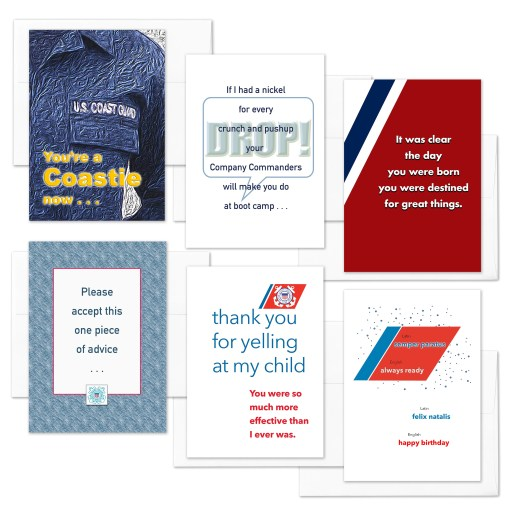 A Coastie Now - US Coast Guard Boot Camp Military Greeting Cards - Includes Envelopes - by 2MyHero