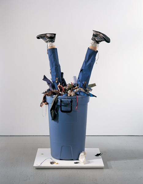 Image result for person in trash can