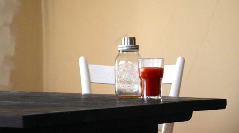 Bloody Mary on our new table