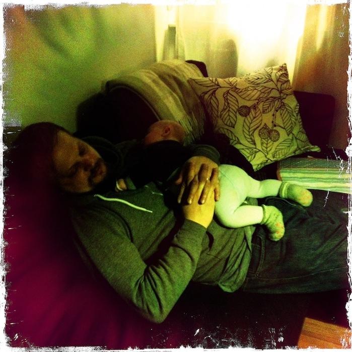 Michael and Oskar asleep