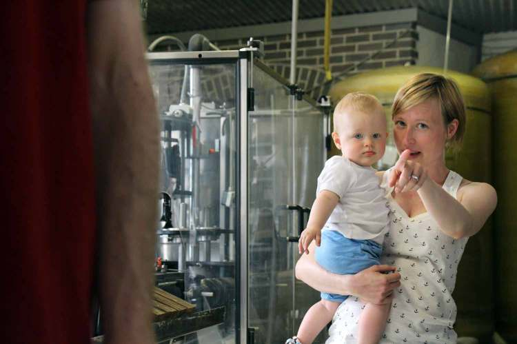 Melanie and Oskar overseeing production