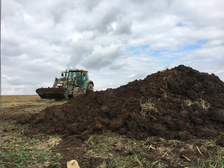 A lot of compost
