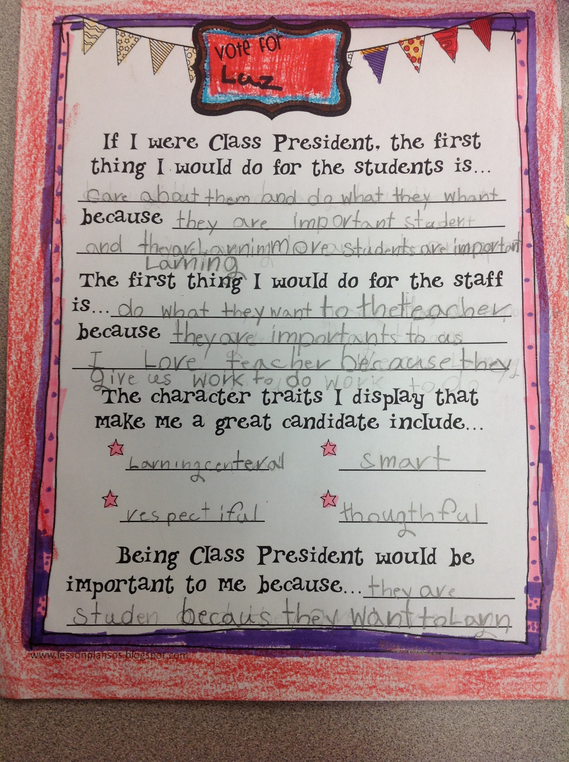 Class Elections Speeches Examples