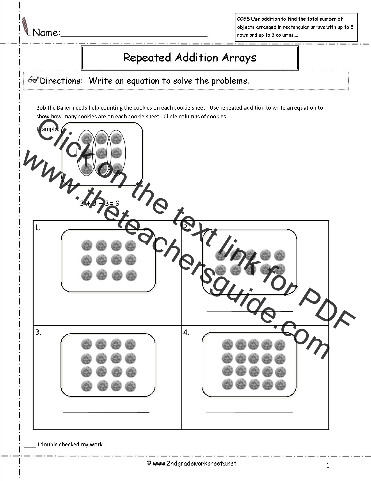Math Worksheet 2nd Grade