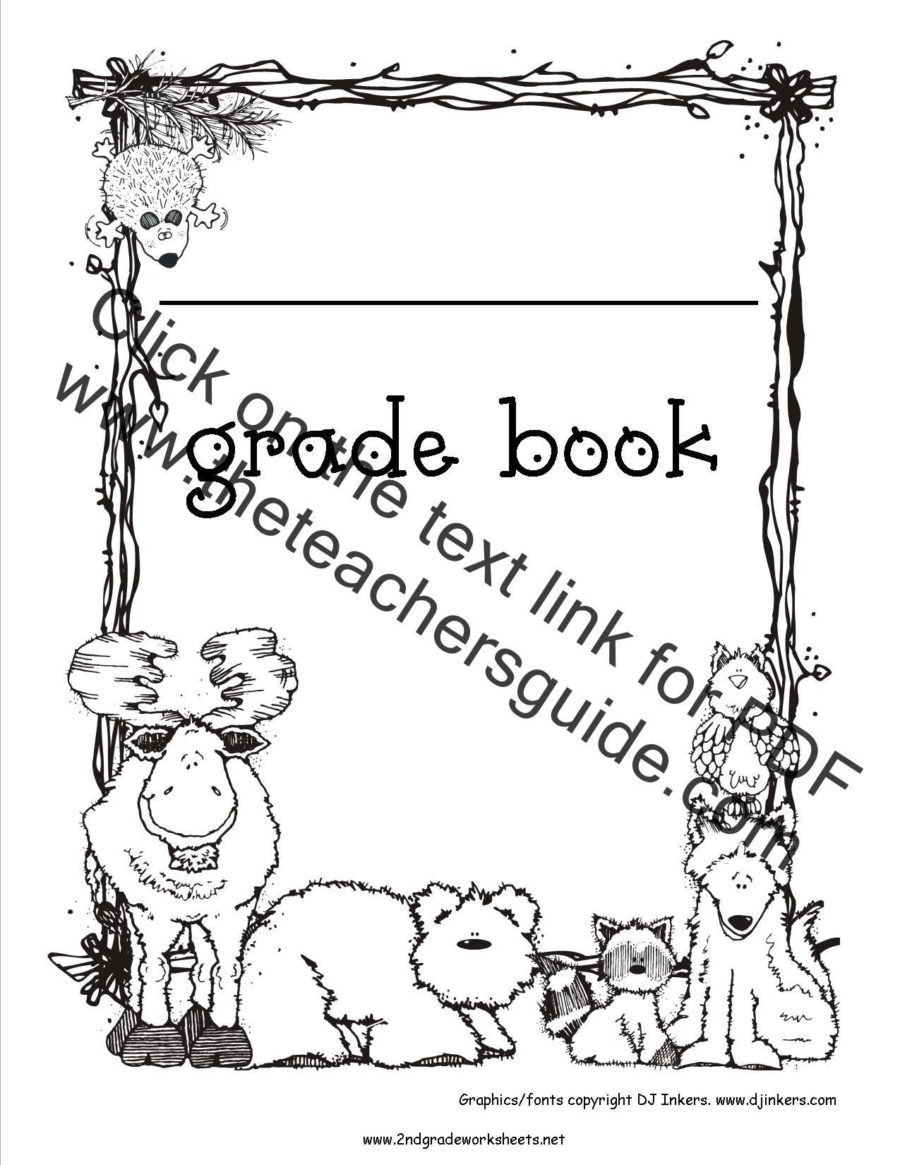 Free Grade Book Printouts