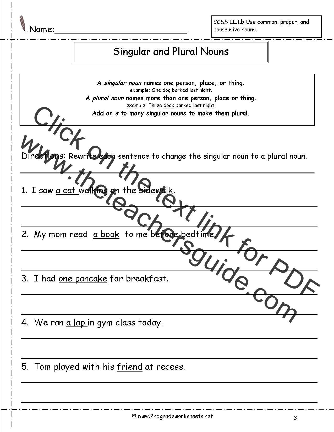 Irregular Plural Nouns Activities 4th Grade