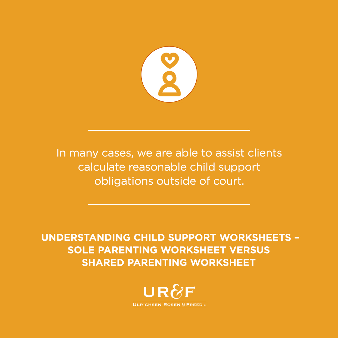 Child Support Worksheets Urf Law