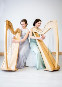 2 of Harps, two harpists playing