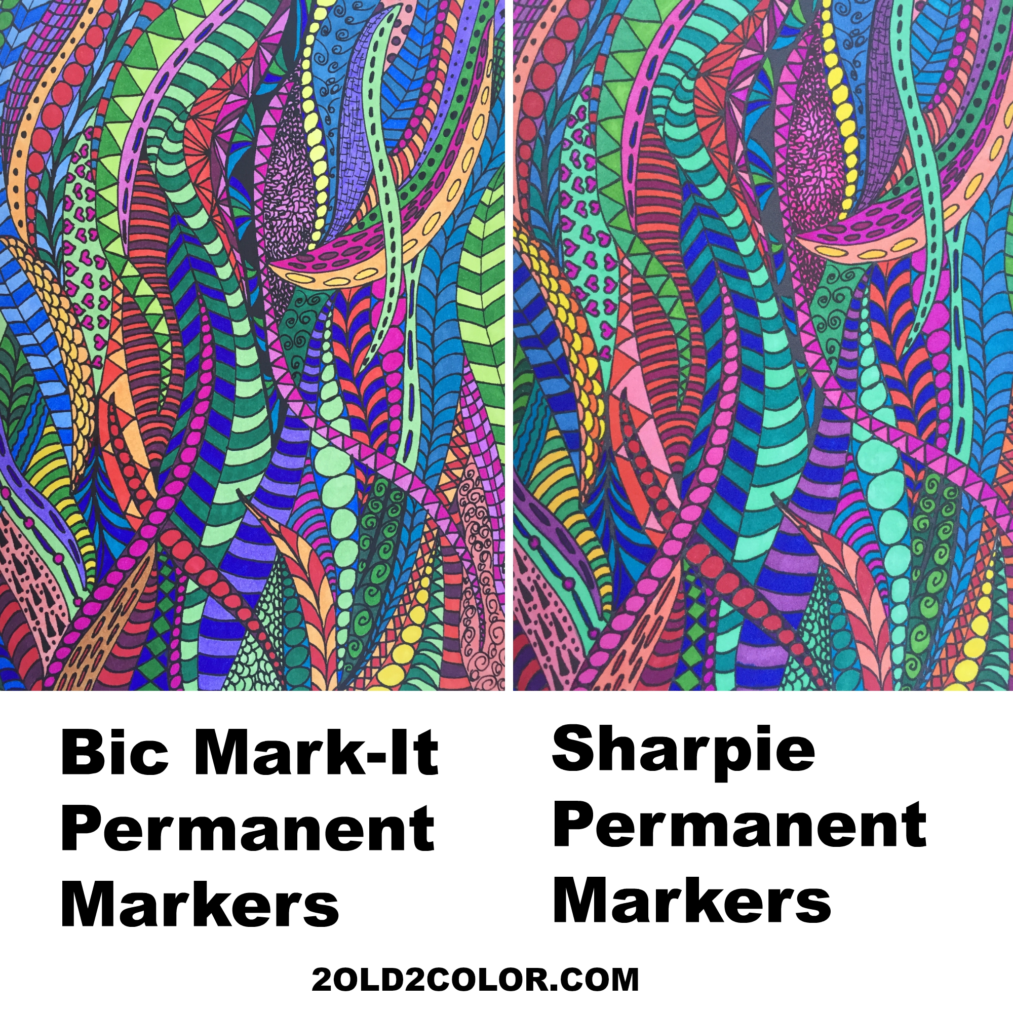 Bic Mark It Markers And Sharpie Markers Comparison 2 Old