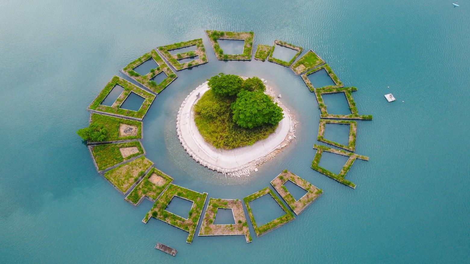 拉魯島 日月潭的飄浮之島