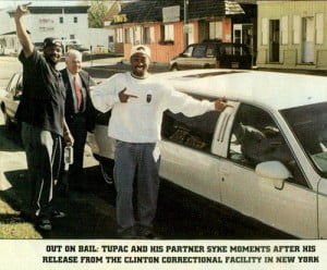 tupac out on bail limo