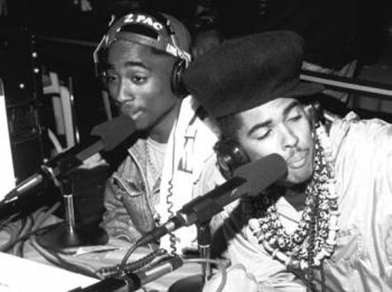 Backstage with 2Pac & Shock G at KMEL Summer Jam, 1991