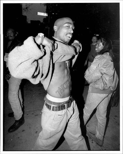 November 09 1994 rare tupac pic 2pac show his thug life for Thug life tattoo tupac
