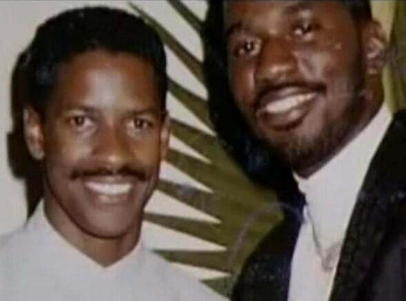 "Denzel Washington and Michael ""Harry O"" Harris"