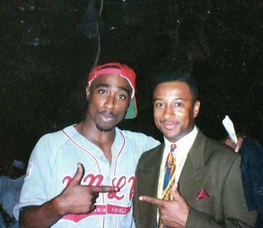 "Rare Photo Of Tupac And Michael Ayers On Set Of ""If My Homies Calls"" image"