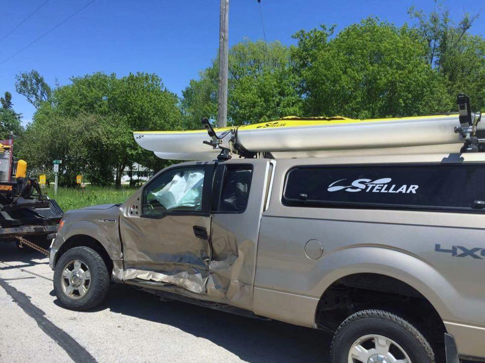 The 2 Paddling 5 truck totaled in a accident.