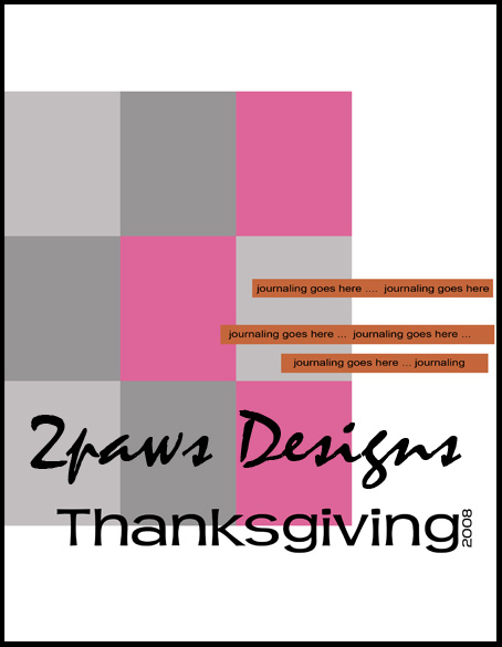 Friday Freebie – Thanksgiving 2008 template