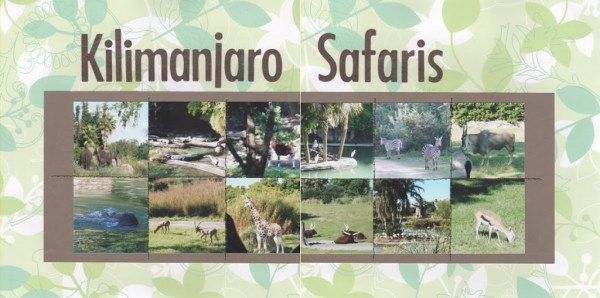 Kilimanjaro Safaris scrapbook page
