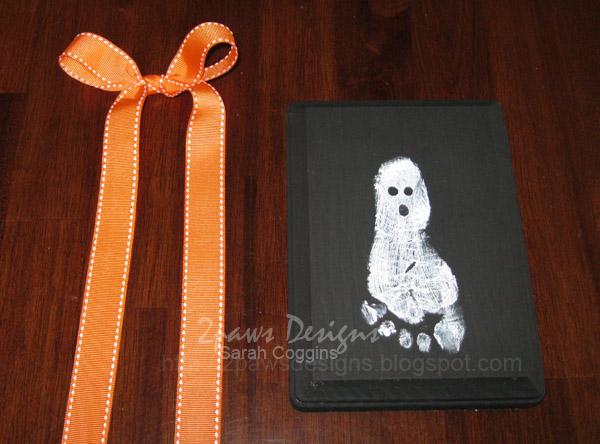 Ghost Footprint Plaque: Ribbon