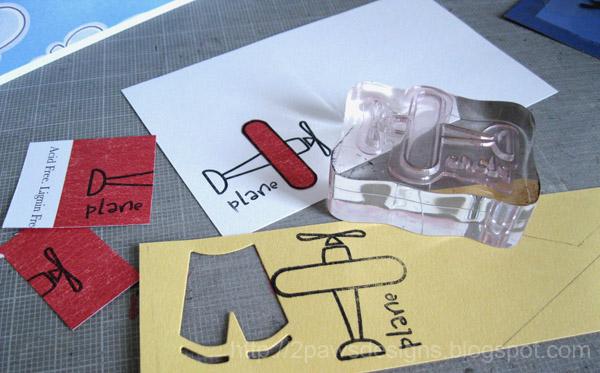 Hybrid Airplane Birthday Card: Stamping