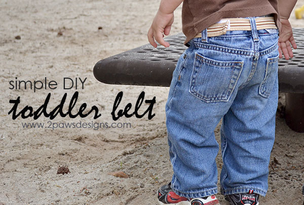 simple DIY Toddler Belt