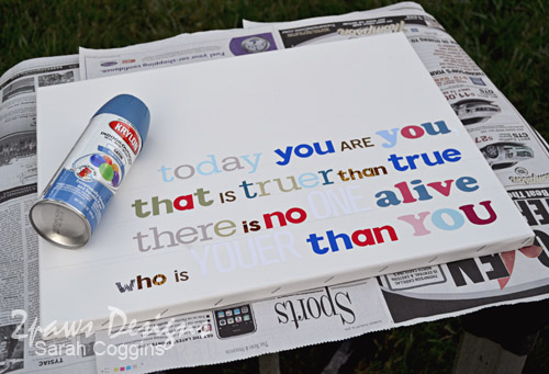 Canvas Quote Art: Lettering