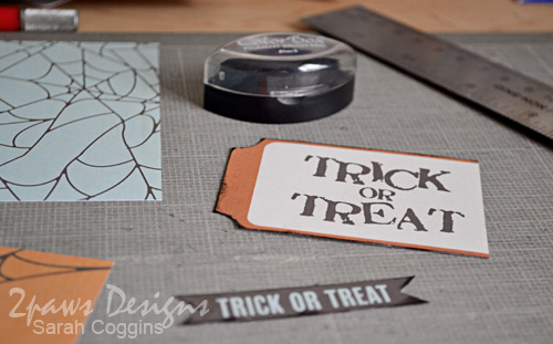Hybrid Halloween cards: inked edges