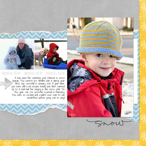 DHD Mad March Digital Scrapbooking Competition Round 3: Snow Days