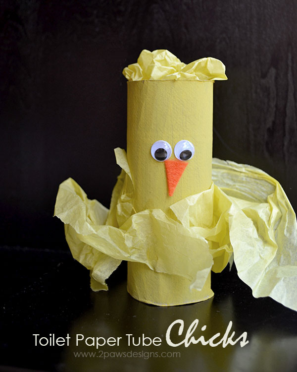 Toilet Paper Tube Chicks