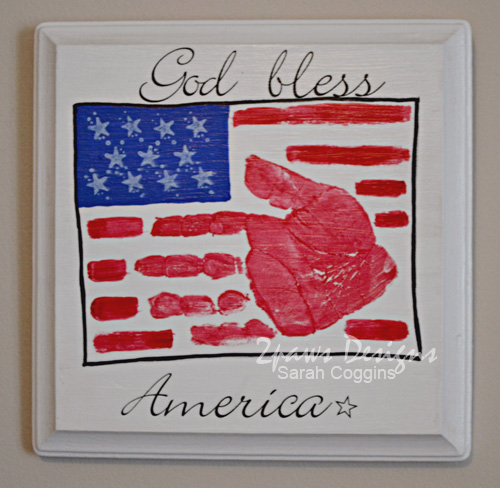 Handprint Flag Plaque