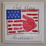 Flag Handprint Plaque