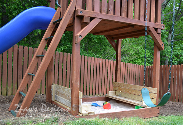 DIY Sandbox Lid/Bench