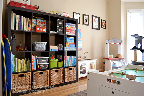 Playroom: Toy Storage and Kitchen
