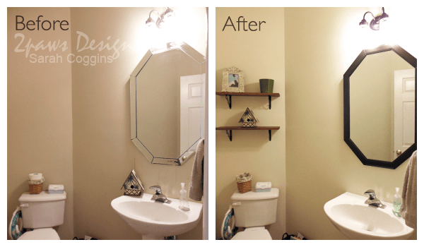 Half Bath Remodel: Before & After #foreclosuretohome