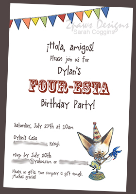 Four-esta Party Invitation