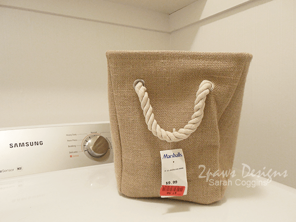 DIY Numbered Burlap Basket: Before