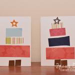 Pieced Christmas Tree Cards