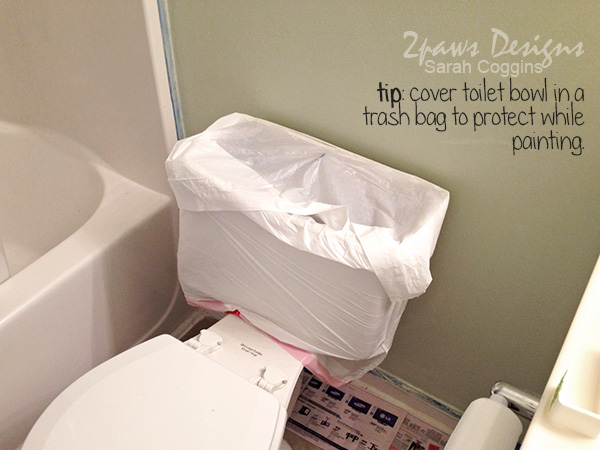Hall Bath Makeover: Toilet Painting Tip