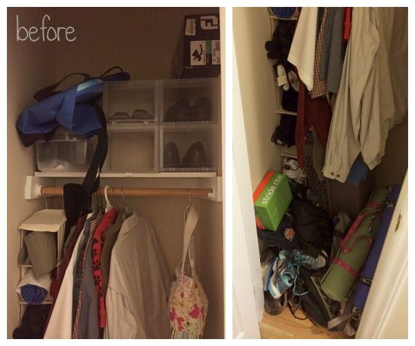 Small Coat Closet Makeover: Before