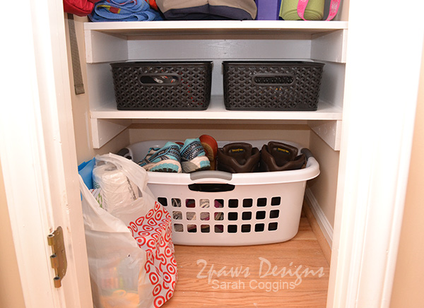 Small Coat Closet Makeover: Bottom