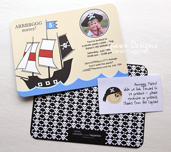 Pirate Birthday Party: Invitation