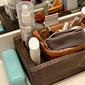 DIY Bathroom Counter Organizer