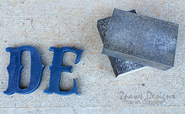 Small Wooden Initials: painting & sanding