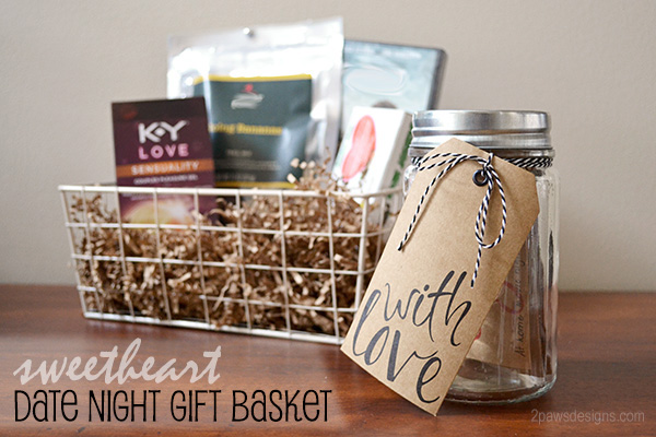 Sweetheart Date Night Gift Basket 2paws Designs