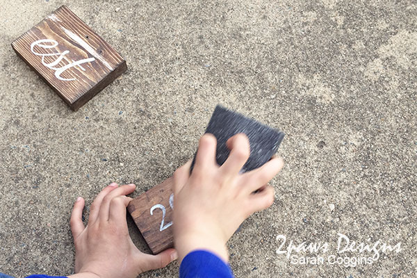 DIY Established Sign: sanding