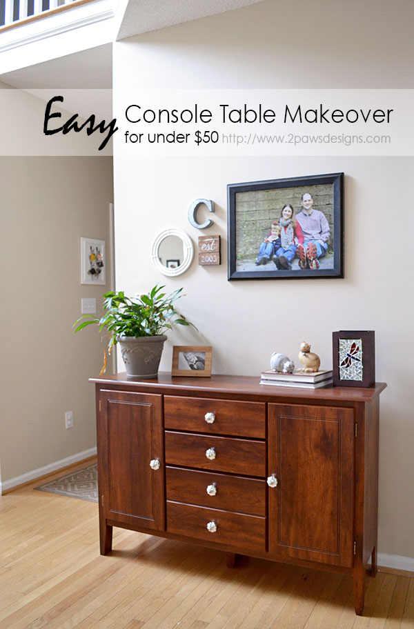 Easy Foyer Console Table Makeover