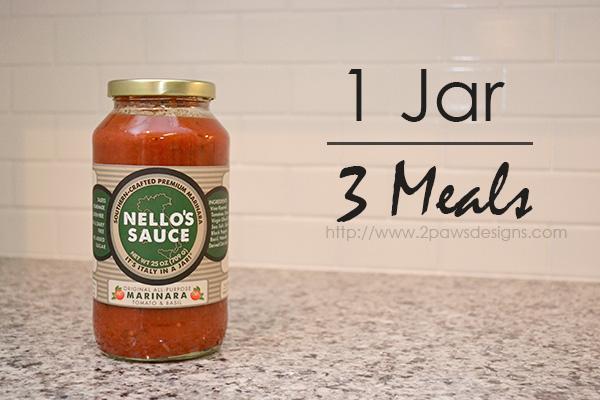 Nello's Sauce: 1 Jar, 3 Meals